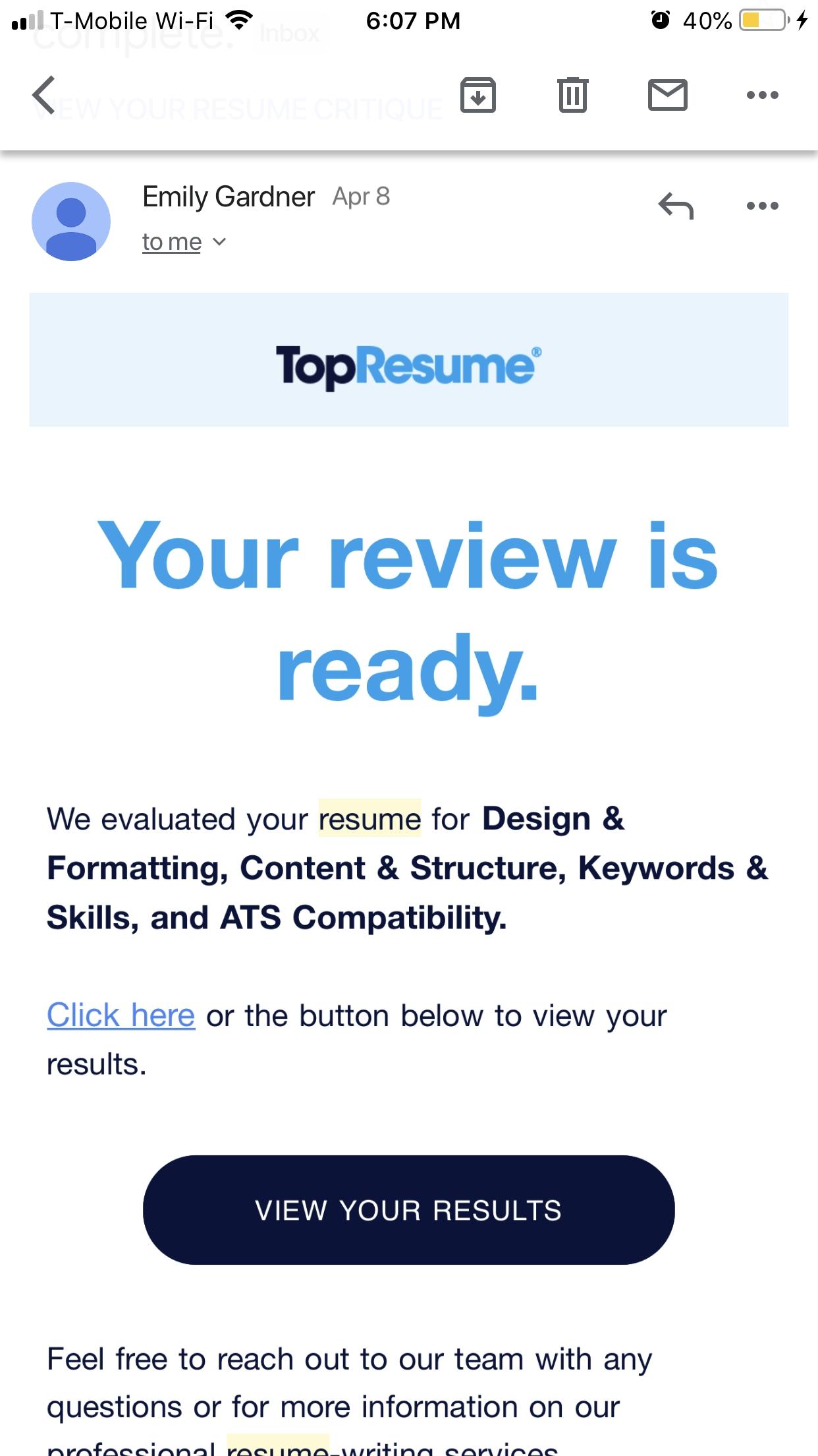 Topresume Reviews 2 655 Reviews Of Topresume Com