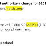 800 number for match com