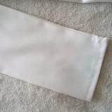 white blazer with blue stain, bleach did not help