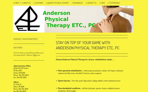 Anderson Physical Therapy ETC., PC