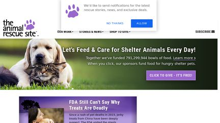 The Animal Rescue Site, a GreaterGood project