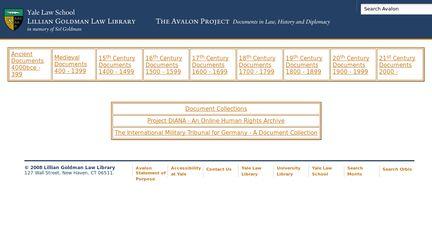 Avalon Project