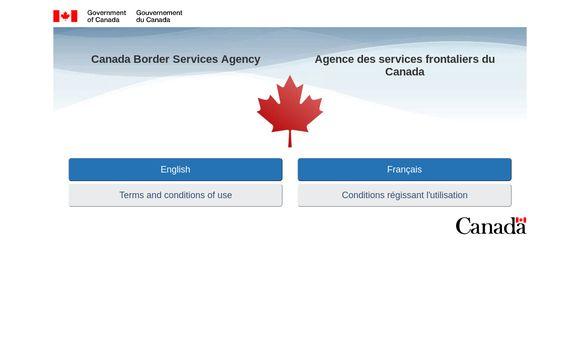 Canada Border Services Agency / Sélection De La Langue