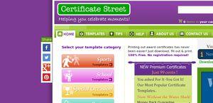 Certificate Street