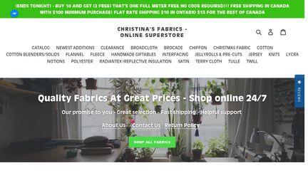 Christina's Fabrics - Online Superstore