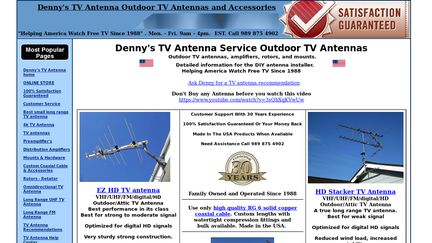 Denny's TV Antenna Source