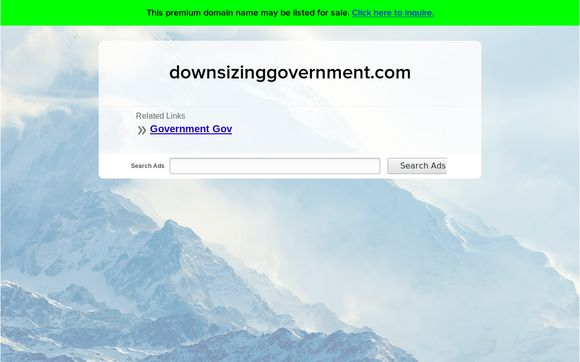 Downsizinggovernment