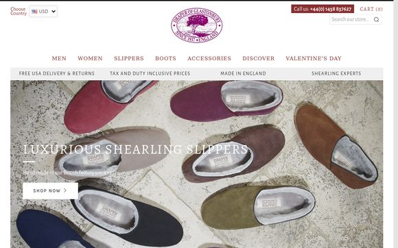 Drapershearlingslippers.com