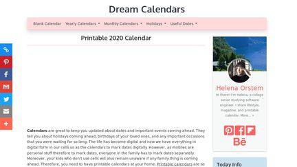Dreamcalendars.com
