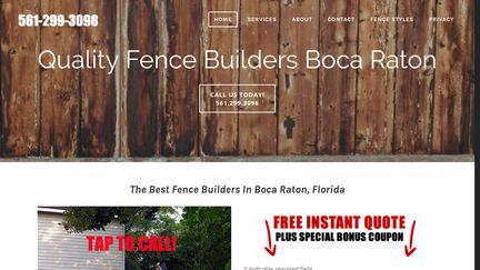 Fence Builders Boca Raton