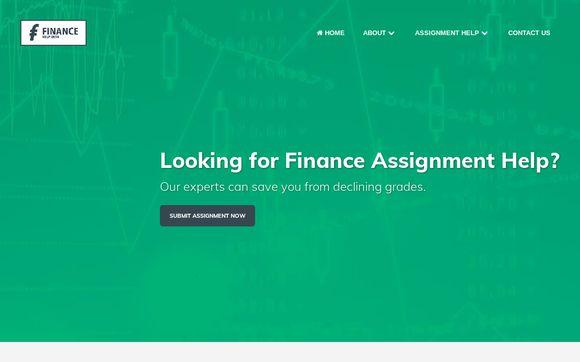 Finance Homework Help, Help With Finance Assignment, Finance Tutor Help