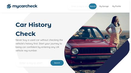 Vehicle Check - Search Any UK Reg Car History - My Car Check