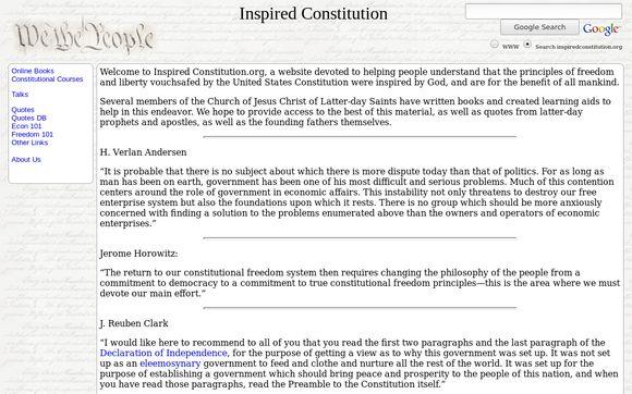 Inspired Constitution