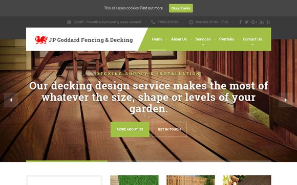 JP Goddard Fencing & Decking Company In Penarth, Cardiff & The Vale