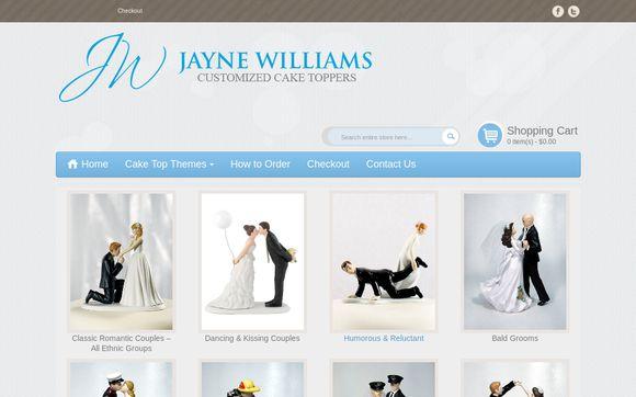 Jayne Williams Wedding Cake Tops