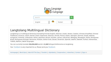 Langtolang Multilingual Dictionary