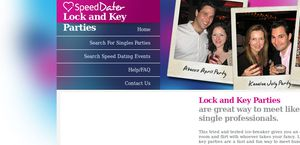 SpeedDater Lock And Key Party Nights