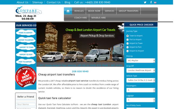 Low Fare Airport Cars