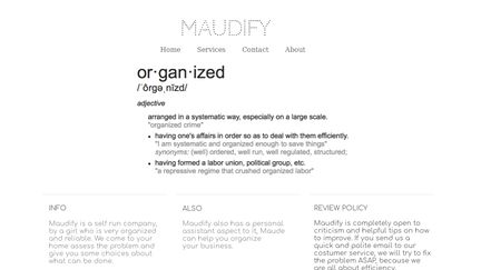 Maudify.webstarts