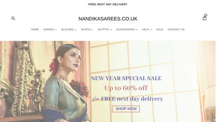 nandikasarees.co.uk