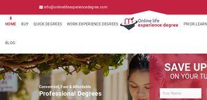Onlinelifeexperiencedegree.com