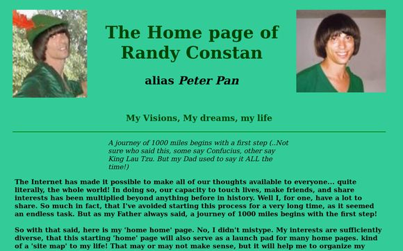 The Home page of Randy Constan