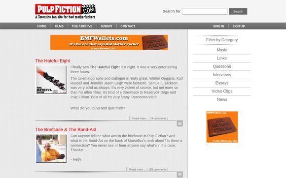 The Pulp Fiction Movie Fan Site