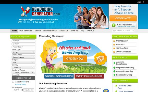 Rewording Generator That Does It All