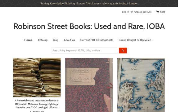 Robinson Street Books:  Used and Rare, IOBA