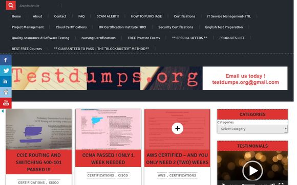 Testdumps.org