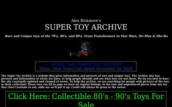 Super Toy Archive