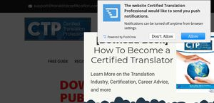 Certified Translation Professional Program