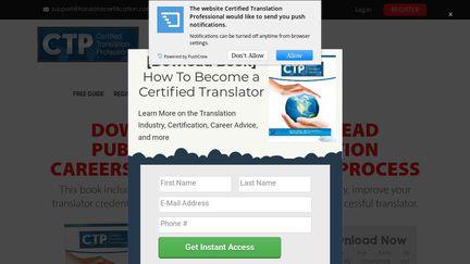 Certified Translation Professional Program