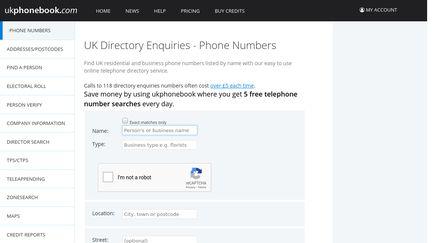 UK Phone Book