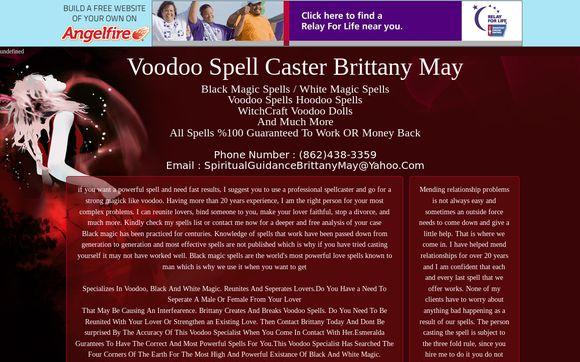 Voodoo Spell Caster Brittany May