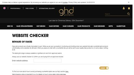 GHD Website Checker